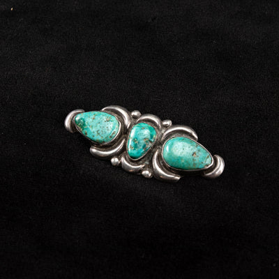 Pin - 1940's Three Turquoise Stone