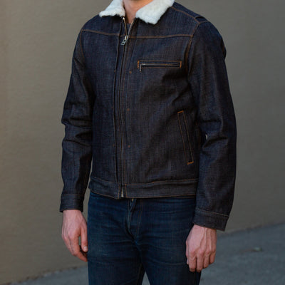 RJ2 Shearling Rider's Jacket - 20 oz Denim