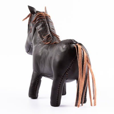 Handcrafted Horsehide Donkey - Black