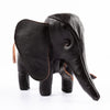 Handcrafted Horsehide Elephant - Black
