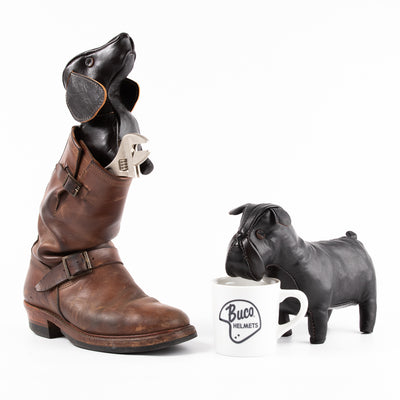 Handcrafted Horsehide Bulldog - Black