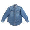 The Real McCoy's Joe McCoy Denim Western Shirt - Washed Indigo - Standard & Strange