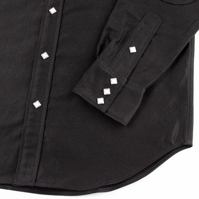 Joe McCoy Moleskin Western Shirt - Black