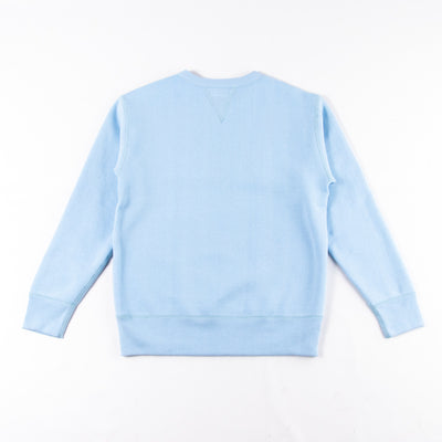 The Real McCoy's Loopwheel Crewneck Sweatshirt - Sax Blue