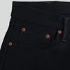 Ray Slim - 14oz Gunpowder Black Selvedge