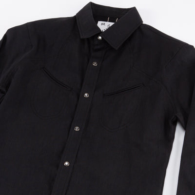 Replicant Western Shirt - Black Denim