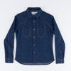 Replicant Western Shirt - Indigo Cotton/Linen Denim