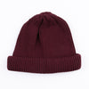 Cotton Roll-Up Beanie - Burgundy