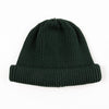 Cotton Roll-Up Beanie - Dark Green