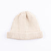 Cotton Roll-Up Beanie - Ivory