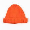 Cotton Roll-Up Beanie - Orange