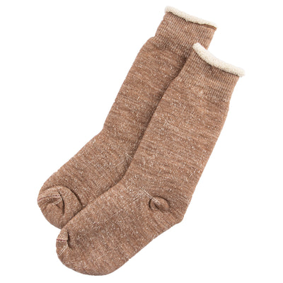 Double Face Merino/Organic Cotton Socks - Camel