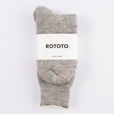 Double Face Merino/Organic Cotton Socks - Medium Gray