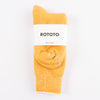 Double Face Merino/Organic Cotton Socks - Yellow