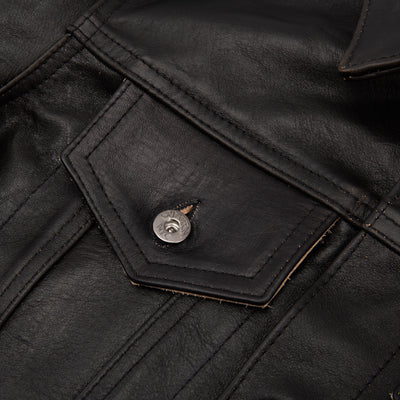 S&S x 3sixteen Black Horsehide Type 3s Jacket