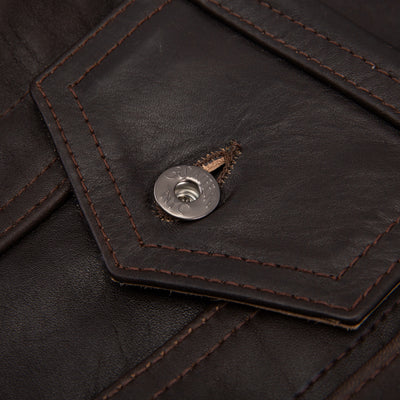 [Pre-order] S&S x 3sixteen Brown Horsehide Type 3s Jacket
