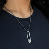 Silver Necklace - Safety Pin