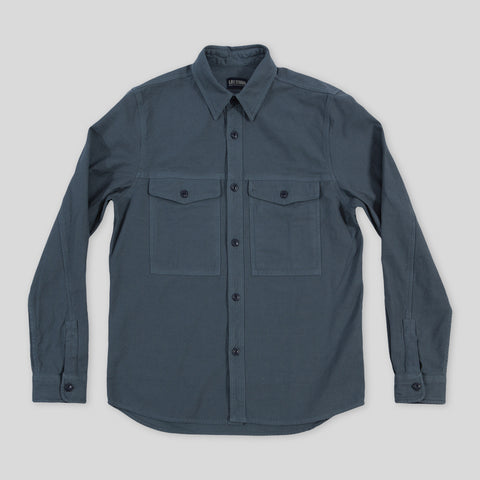 Shacket - Blue Fog Reverse Sateen