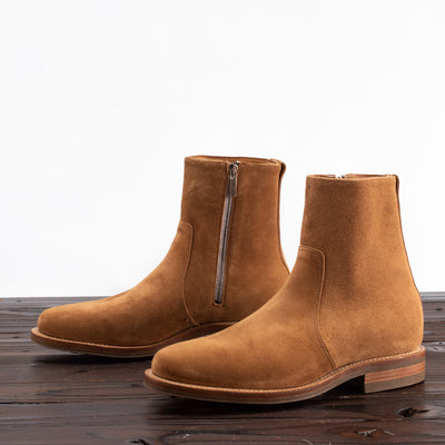 Side Zip Boot - Anise Calf Suede - 2050