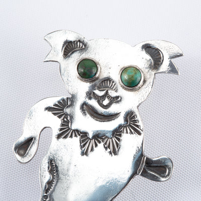 Silver Brooch - Dreaming Bear