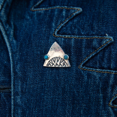 Silver Brooch - Jaws