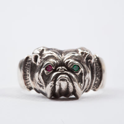Silver Bulldog Ring