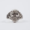 Silver Skull Poison Ring - Black Eyes