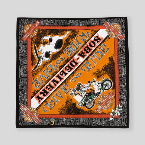 Soba Delivery Bandana - Orange