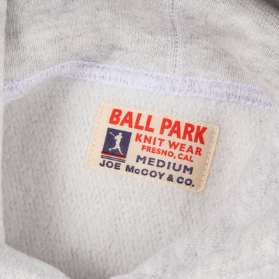 Ball Park Heavyweight Hooded Sweatshirt - Silver Gray