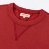 The Real McCoy's Loopwheel Crewneck Sweatshirt - Cherry