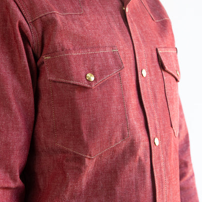 Townes Western Shirt - 11oz Red Chambray