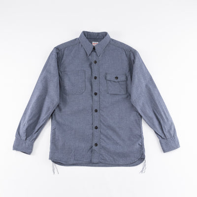 Twill Stripe Shirt - Navy