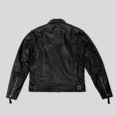 S&S x Simmons Bilt Two Lane Blacktop Horsehide Leather Jacket