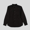 Two Ply Twill Overshirt - Black