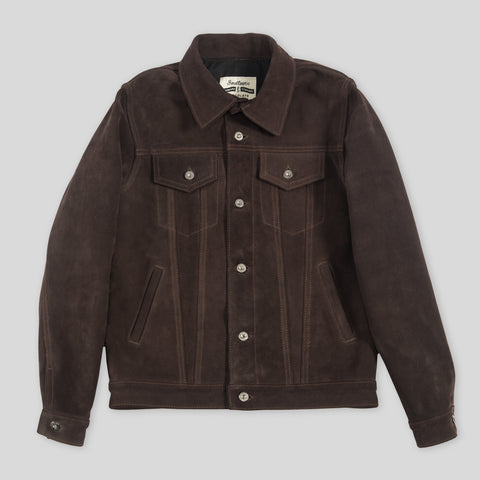 3sixteen x S&S Type 3s Jacket - Chocolate Suede PRE-ORDER