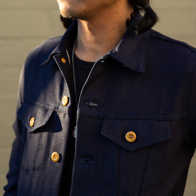 Type 3s Denim Jacket - Indigo Panama Cloth