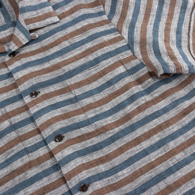 Vacation Shirt - Linen Stripe