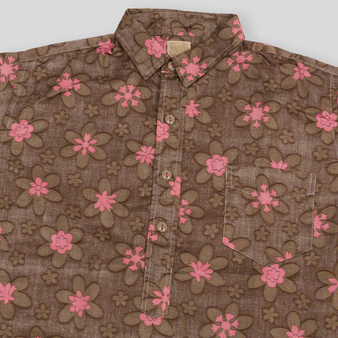 Vacation Shirt - Brown Floral Print