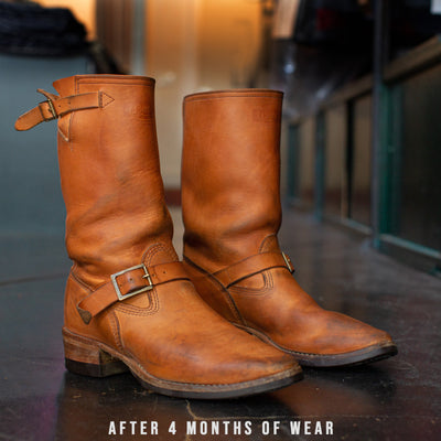 S&S x Wesco Van Cleef III Veg Tan Engineer Boot
