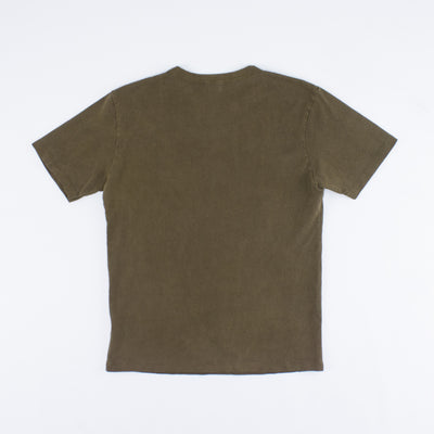 Vintage Wash Pocket Tee - Dark Olive