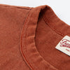 Vintage Wash Pocket Tee - Rust