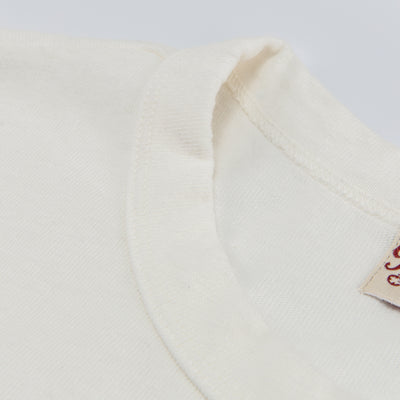 Vintage Wash Pocket Tee - White