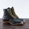Wesco Limited Warren Boot - Navy Waxed Flesh - Standard & Strange