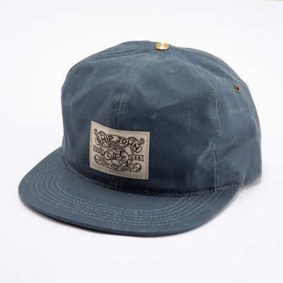 Waxed Wills Hat - Slate Blue Waxed Canvas