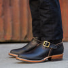 Limited Engineer Boot - Black Waxed Flesh
