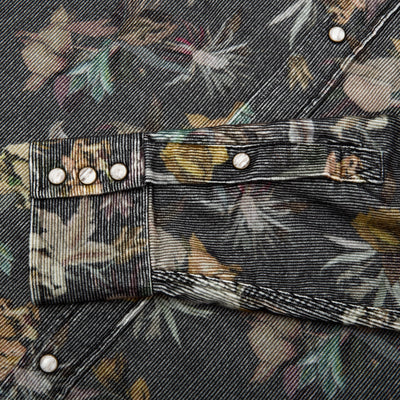 Western Shirt - Baby Cord Floral Camo