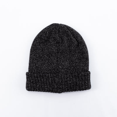 Wool Logger Knit Cap - Black