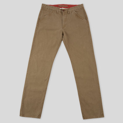 Workers Chino Classic Fit - Brown Herringbone