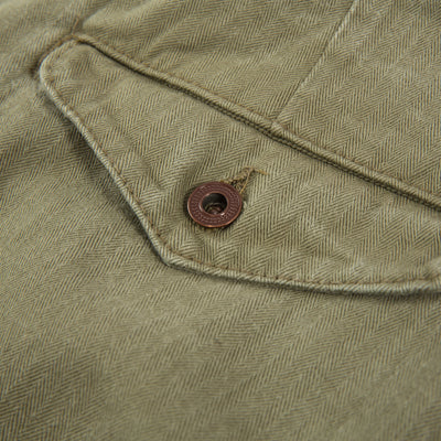 Workers Chino Classic Fit - Olive Herringbone