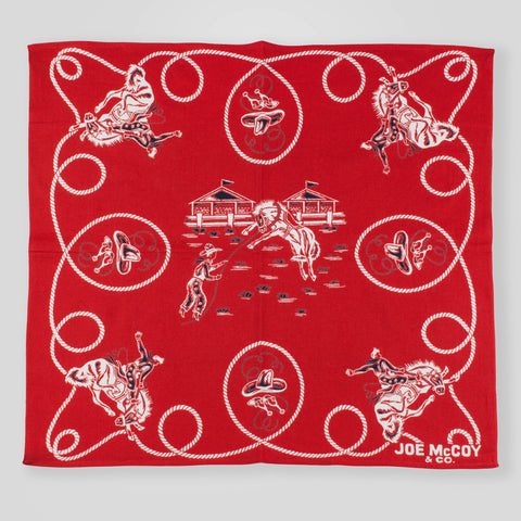 Joe McCoy Rodeo Bandanna - Red